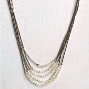 VTG Native Liquid Sterling Silver Pearl Necklace